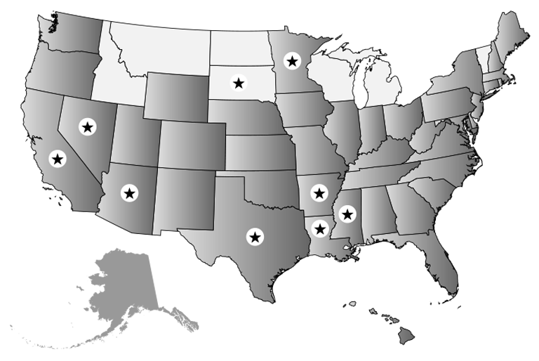 Infographic map of the UnitedStates with states coloreddifferently to represent DyslexiaLaws