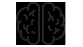 Graphic represents a brain