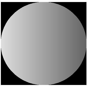 Circle with gradient light gray todark gray