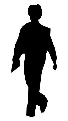 Black silhouette of a child