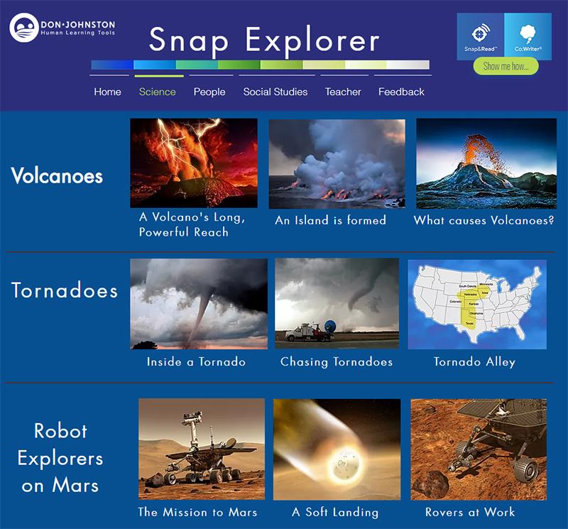 Click on image of SnapExplorer Sample Content to goto snapexplorer.com