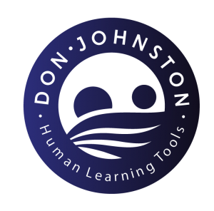 Blue Don Johnston Human Learning Tools logo