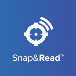 Snap & Read logo blue