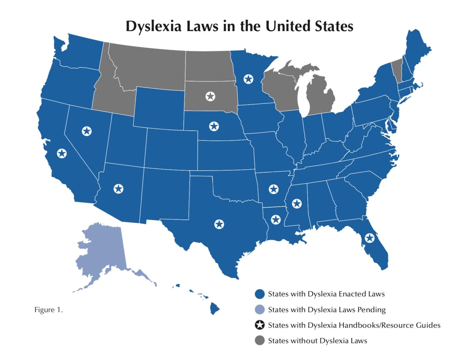 Dyslexia Laws in the United States Map