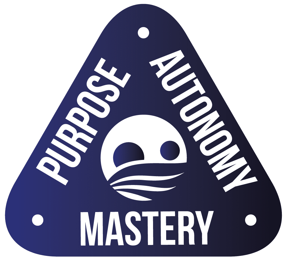 Logo that says Purpose Autonomy and Mastery