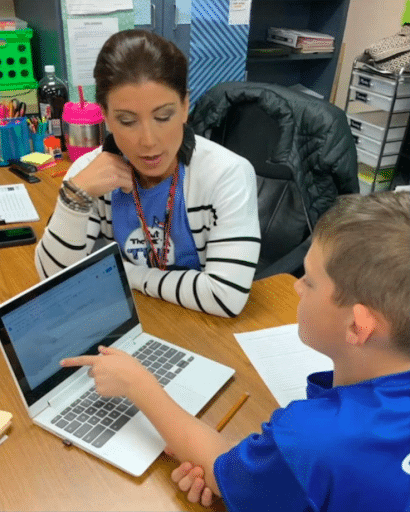 Student Parker working with his teacher using Co:Writer for Dyslexia